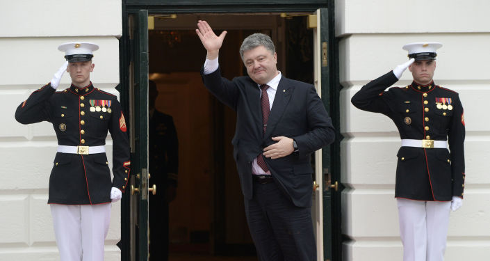 Ukrajinský prezident Petro Porošenko ve Washingtonu