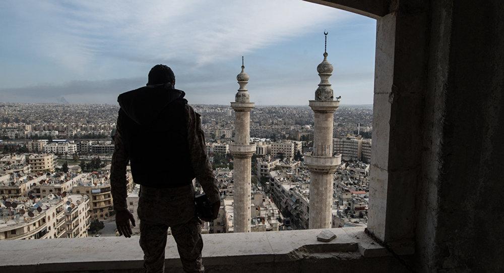 Pohled na Aleppo