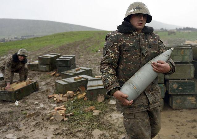 Vojáci v oblasti karabašského konfliktu