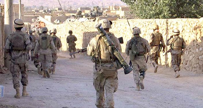 Američtí vojíci na irácko-syrské hranici