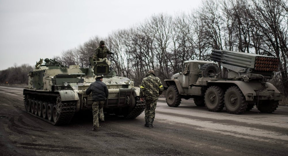 Ukrajinské raketomety BM-21 Grad