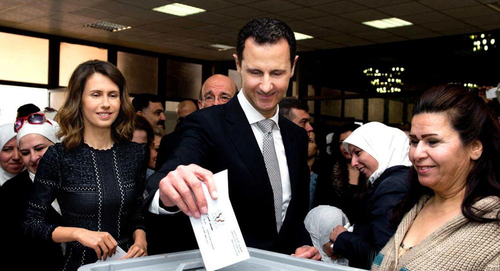 Bašár Asad a jeho manželka