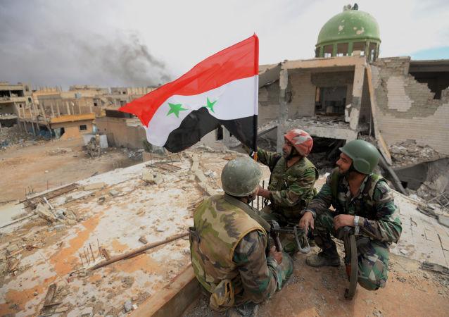 Syrští vojáci v Palmýře