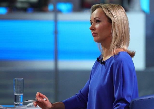 Moderátorka Přímé linky s Vladimirem Putinem
