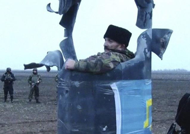 Účastník blokády v Chersonské oblasti