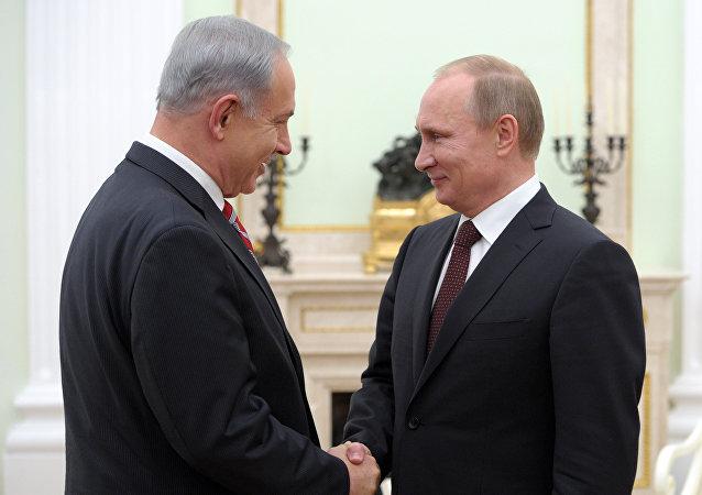 Vladimir Putin a Benjamin Netanjahu