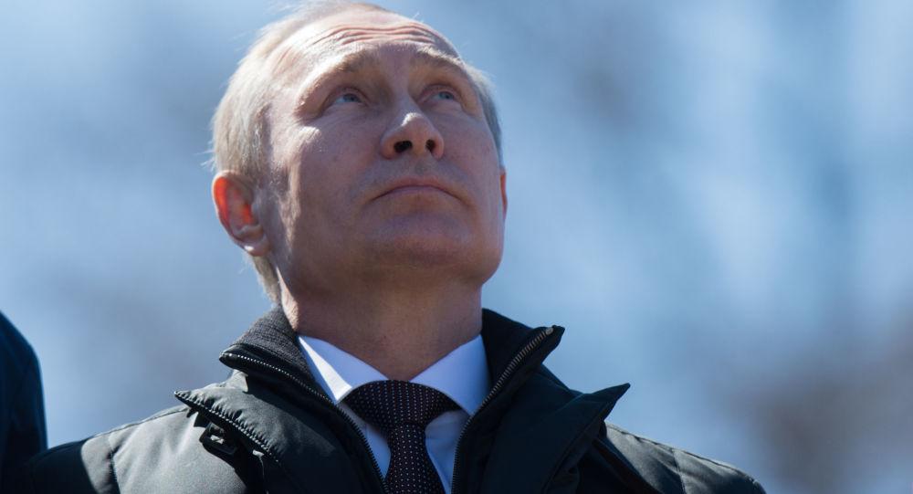 Prezident RF Vladimir Putin na kosmodromu Vostočnyj