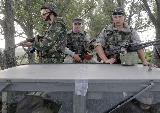 Ukrajinští výsadkáři ve Slavjansku