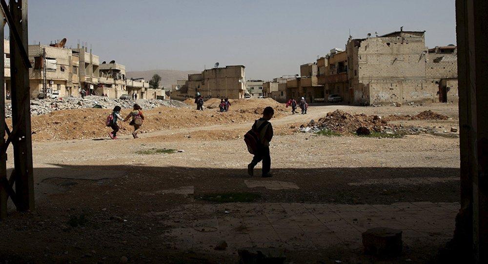 Sýrie, předměstí Damašku