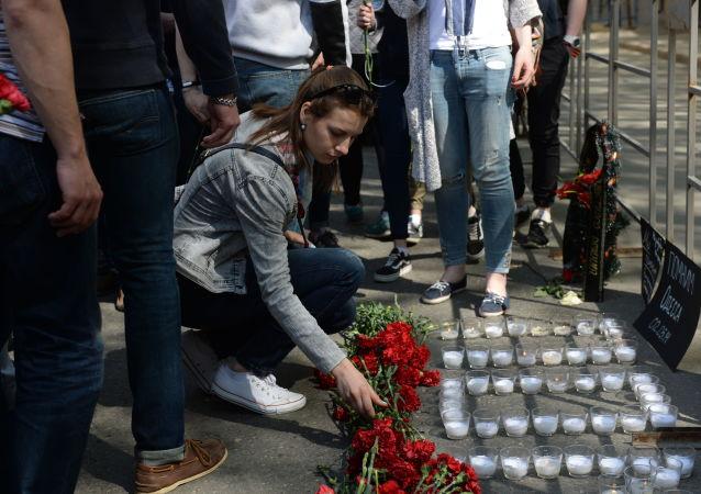 """Akce, která byla prováděna 2. května roku 2014 na Kulikově poli v Oděse aktivisty """"antimajdanu"""", skončila tragédií poté, co proti nim vystoupili radikálové extrémistického Pravého sektoru a fotbalový ultras"""