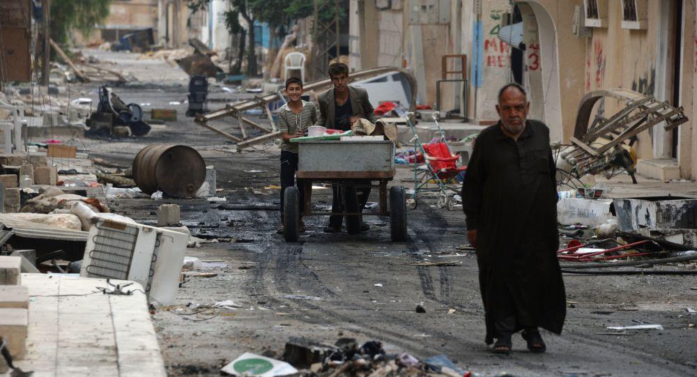 Jedna z ulic Palmýry