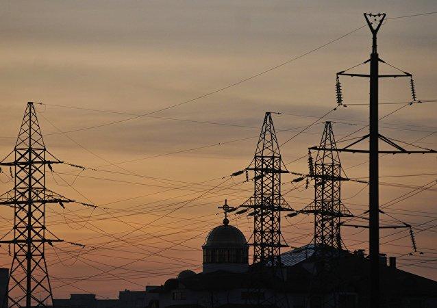 Elektrické vedení na Ukrajině