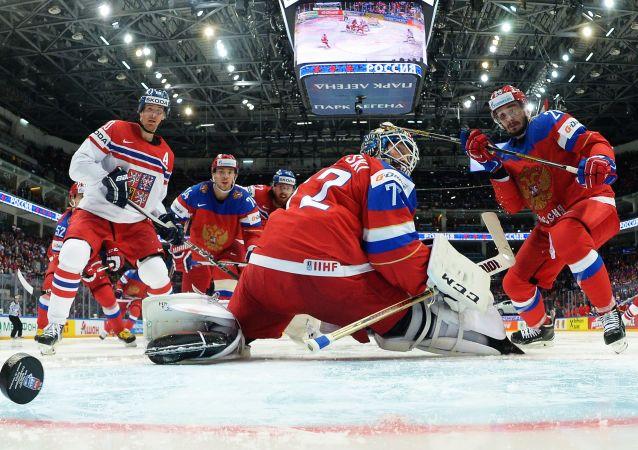Utkání Rusko – Česko a zahajovací ceremoniál MS v ledním hokeji v Moskvě