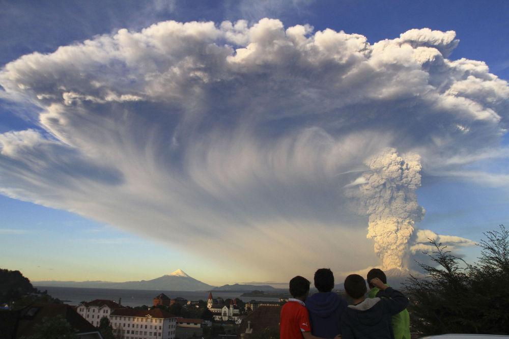 Erupce sopky Calbuco v Chile