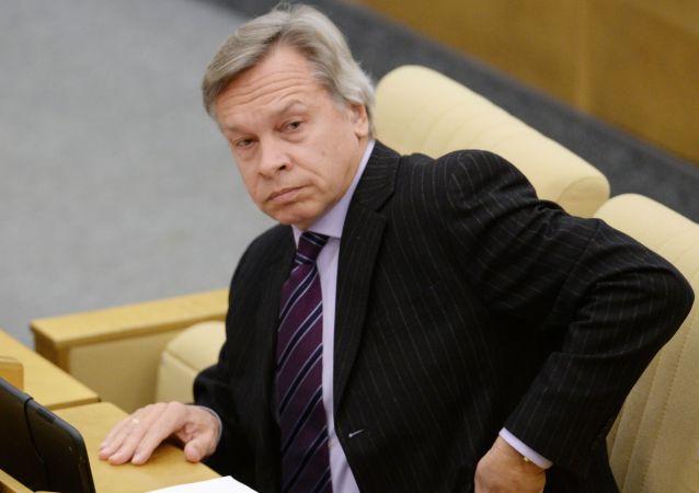 Předseda zahraničního výboru Státní dumy Alexej Puškov