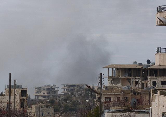 Vesnice Zárá v provincii Hamá v centrální Sýrii