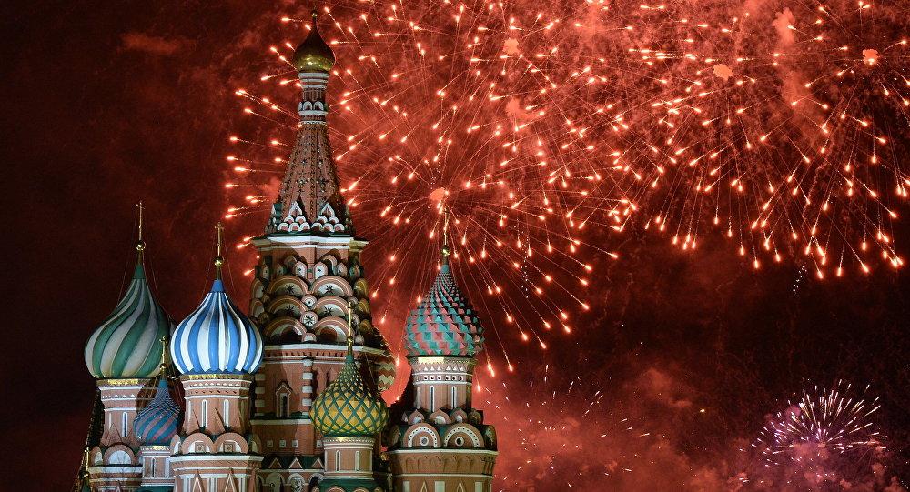 Ohňostroj v Moskvě