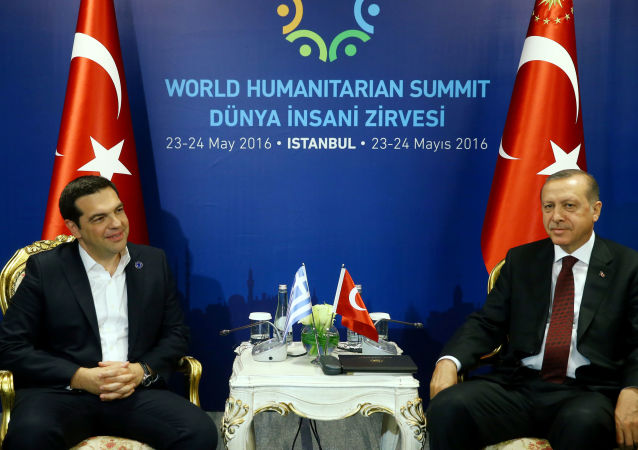 Alexis Tsipras a Recep Tayyip Erdogan