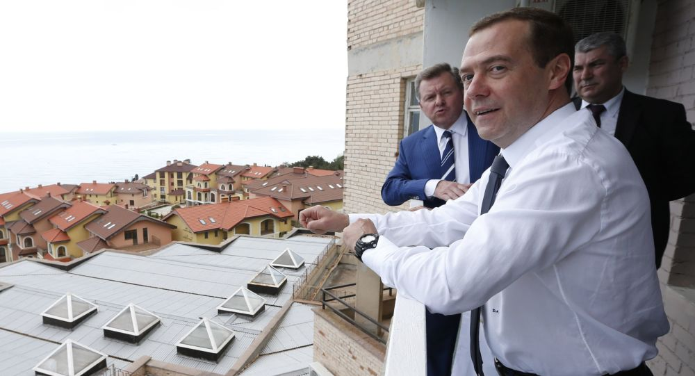 Dmitrij Medveděv na Krymu