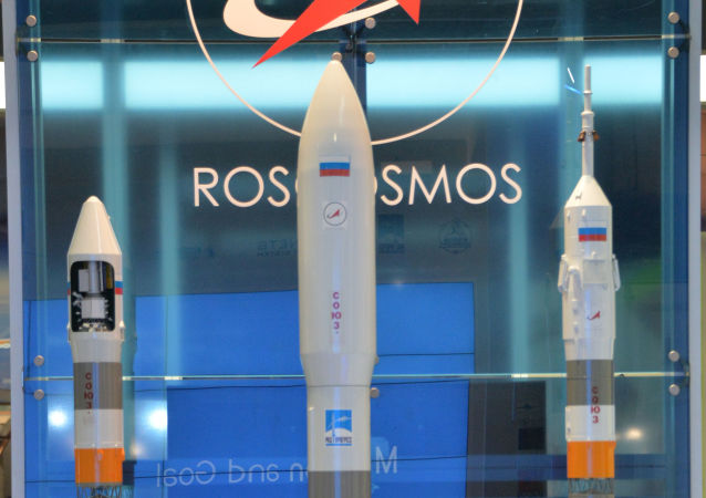 Roskosmos na aerosalonu ve Farnborough 2014