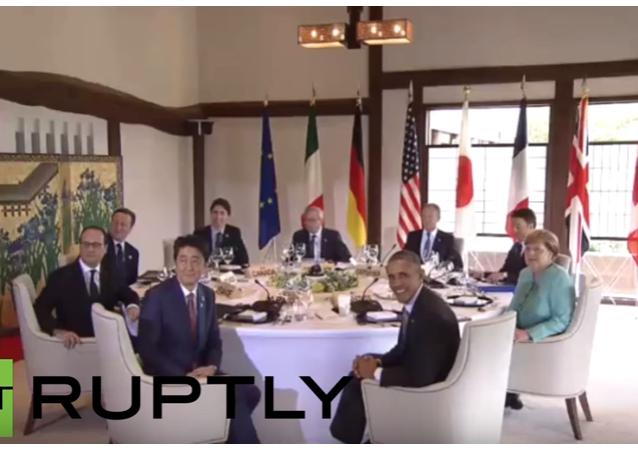 Japonsko: lídři G7 snídají s představiteli EU Tuskem a Junkerem na začátku summitu