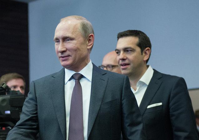 Alexis Tsipras s Vladimirem Putinem