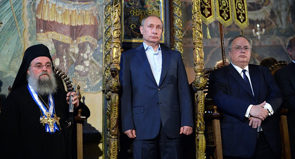 Vladimir Putin navštívil chrám Zesnutí přesvaté bohorodičky
