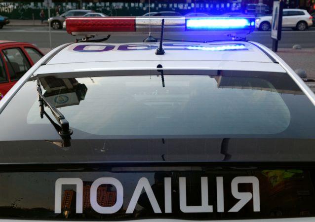 Policejní auto v Kyjevě