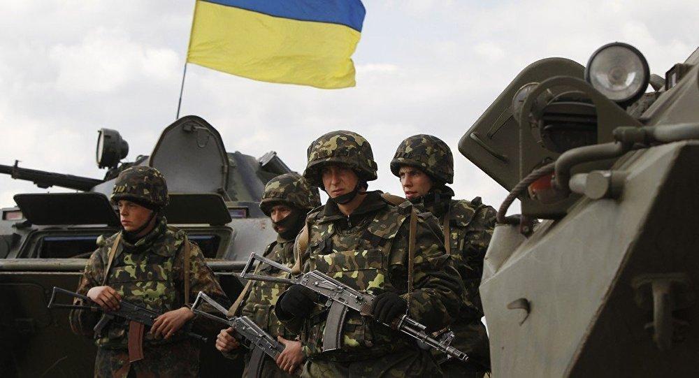 Ukrajinští vojáci na východě Ukrajiny
