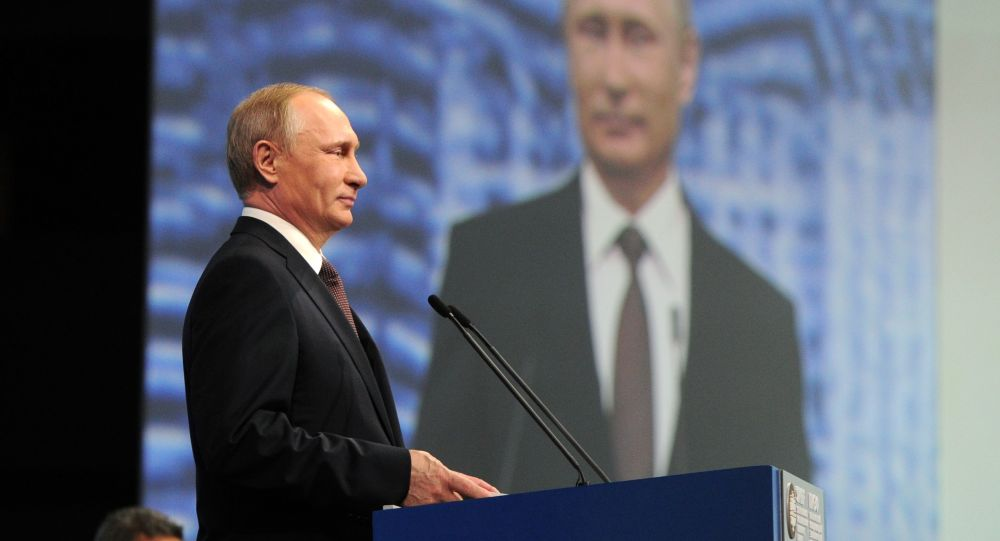 Vladimir Putin na Petrohradském mezinárodním ekonomickém fóru