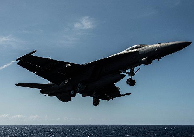 Americká stíhačka F/A-18F Super Hornet