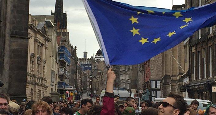 Mítink na podporu EU ve Skotsku