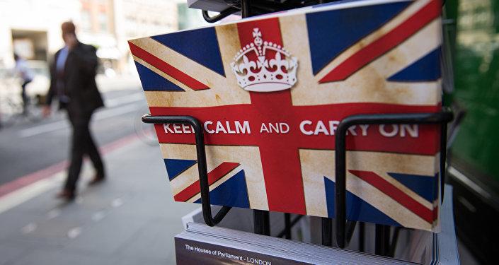 Pohled ve tvaru britské vlajky