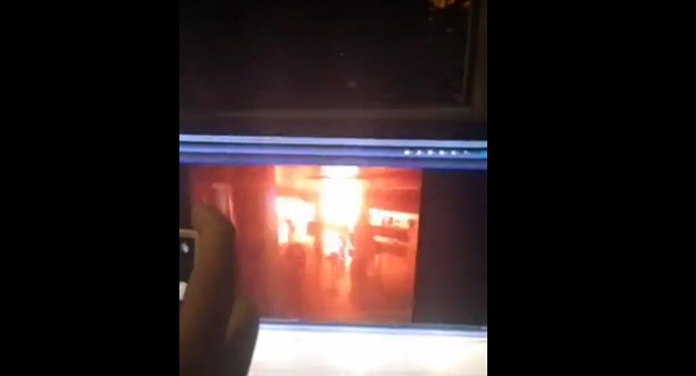Kamera zachytila explozi na letišti v Istanbulu