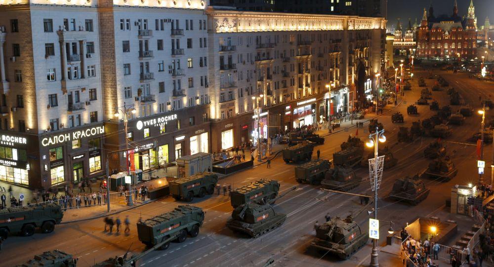 Zkouška přehlídky Vítězství v Moskvě.