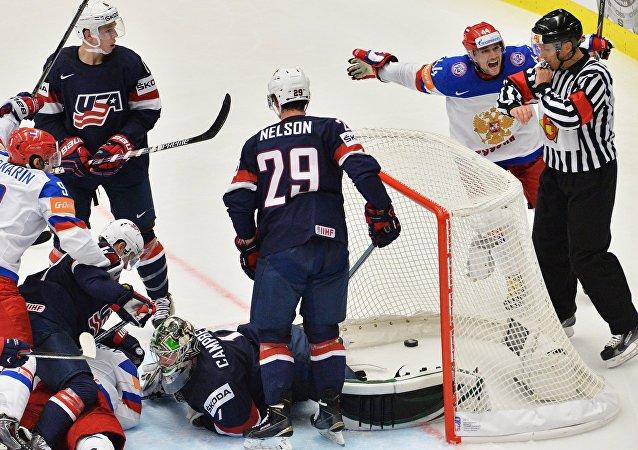 Hokej. Mistrovství světa. Rusko vs USA.