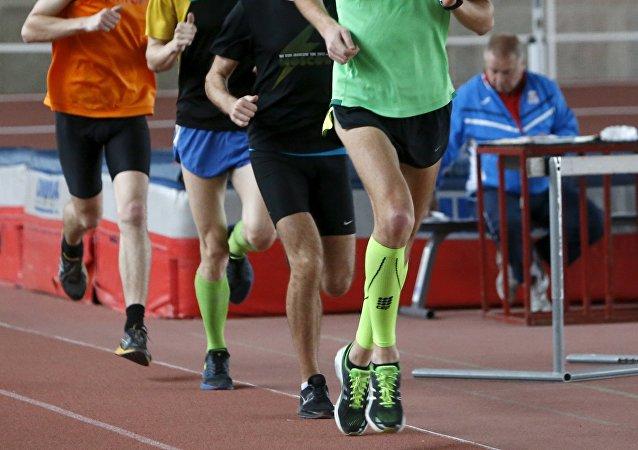 Trénink atletů