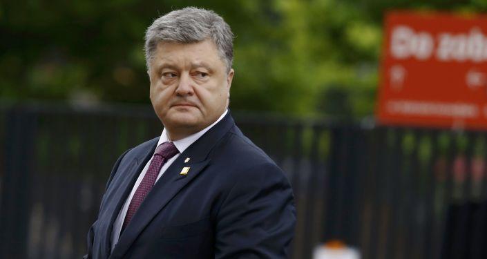 Ukrajinský prezident Petro Porošenko ve Varšavě. Ilustrační foto