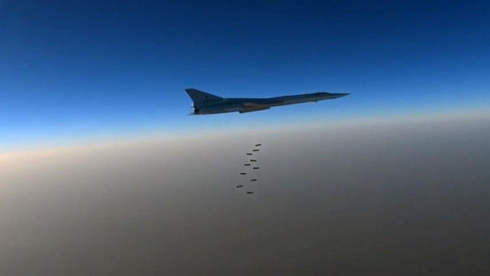 Útok dálkového letectva na objekty teroristů v Sýrii