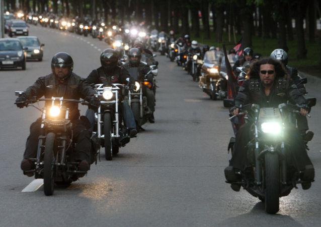 Motorkářský klub Noční vlci. Ilustrační foto