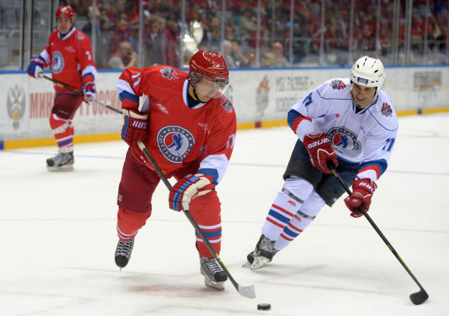 10. května 2014 se zúčastnil Vladimir Putin gala utkání hokejistů-obdivovatelů a hvězd ruského hokeje v Soči.