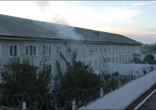 Na internetu se objevilo video potlačení vzpoury vězňů v Chakasii
