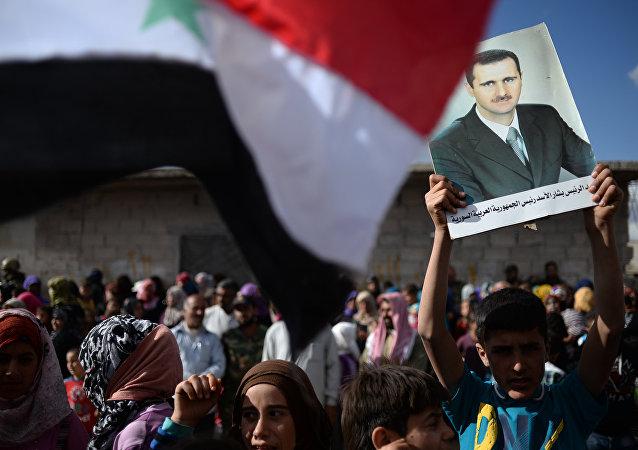Přívrženci syrského prezidenta Bašára Asada