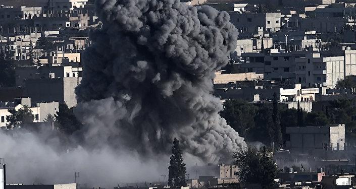 Letecký útok koalice v Ajn al-Arabu, Sýrie