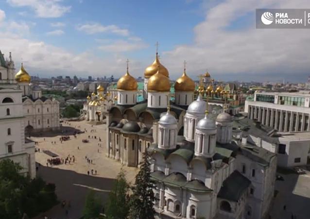 Moskevský Kreml z ptačí perspektivy