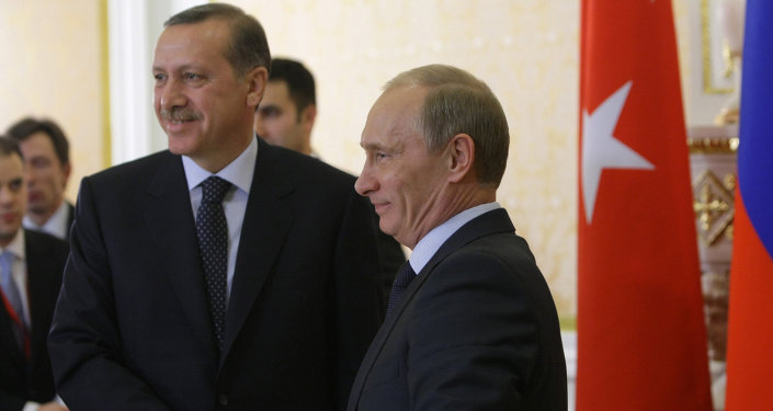 Schůzka Recepa Tayyipa Erdogana a Vladimira Putina