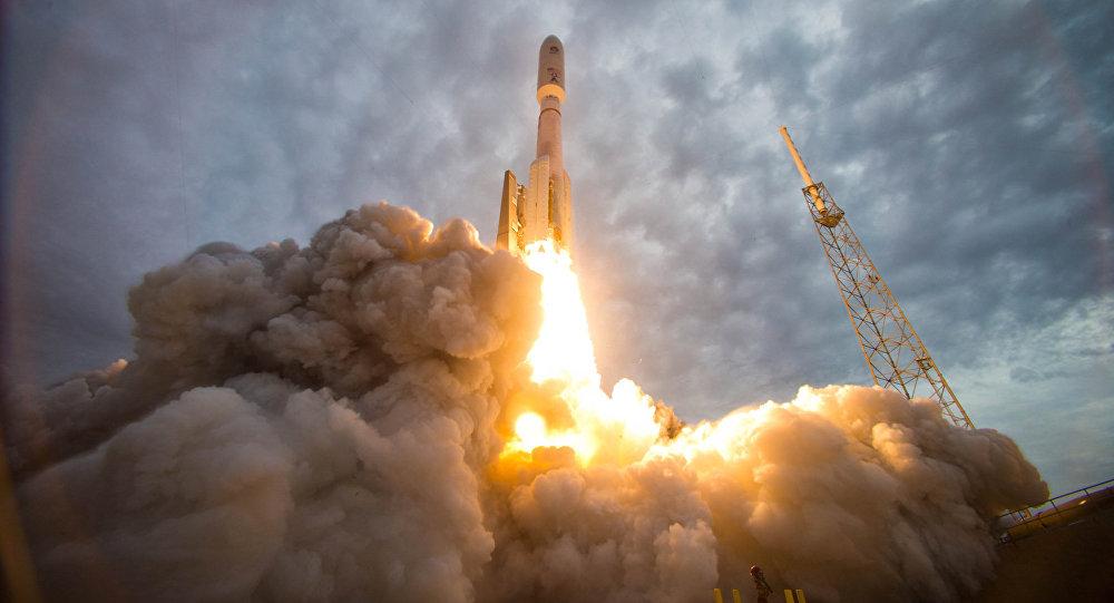 Start rakety z Kennedyho vesmírného střediska na Floridě. Ilustrační foto