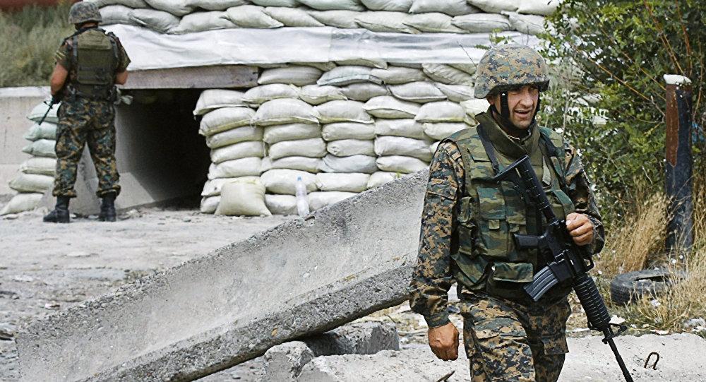 Gruzínští vojáci v roce 2008
