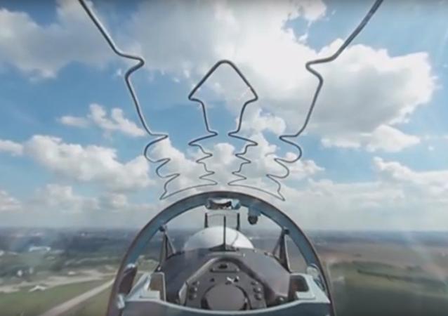 Pohled z pilotní kabiny