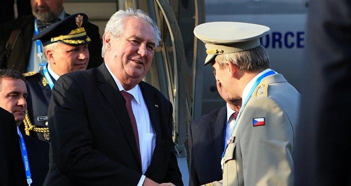 Miloš Zeman v Moskvě